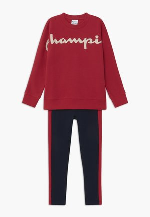 LEGACY CREWNECK SUIT SET - Tracksuit - dark red