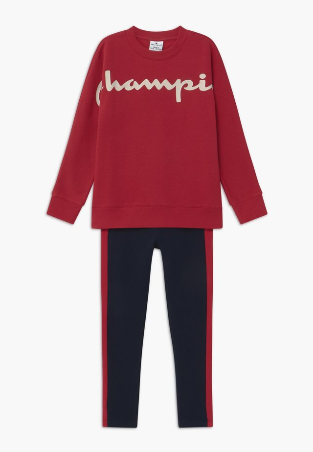 LEGACY CREWNECK SUIT SET - Træningssæt - dark red
