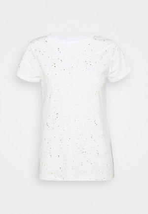 FAV CREW - T-shirt z nadrukiem - milk