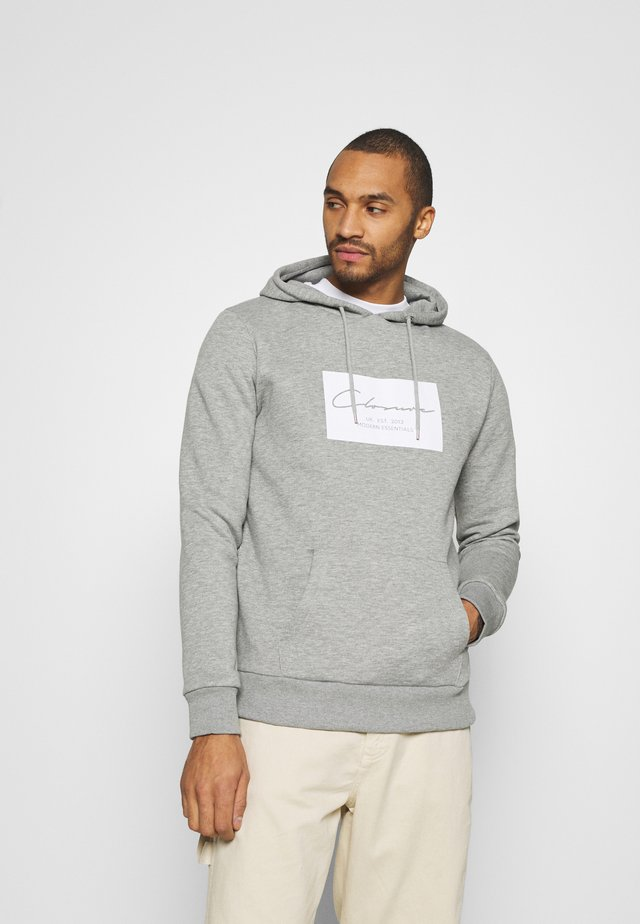BOX LOGO HOODY - Huppari - grey