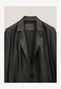 Massimo Dutti - MIT GÜRTEL - Leather jacket - black - 4