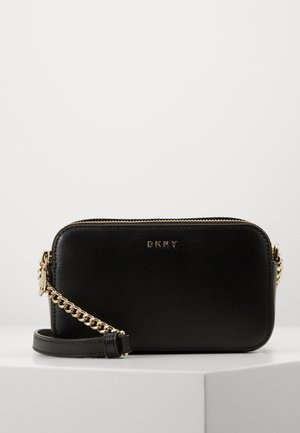 BRYANT CAMERA BAG SUTTON - Across body bag - black/gold-coloured