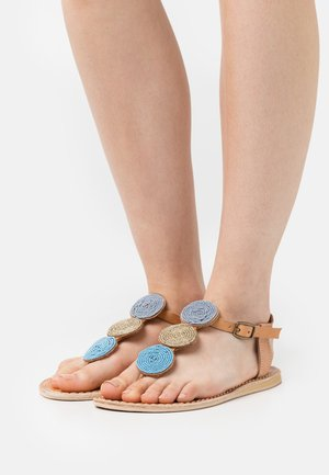 ISKO FLAT - T-bar sandals - aqua