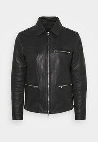 AllSaints - CLAY JACKET - Leather jacket - black - 5