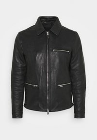 CLAY JACKET - Kožená bunda - black