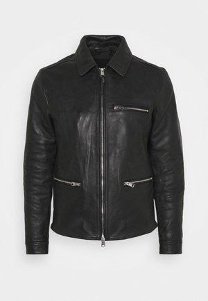CLAY JACKET - Leather jacket - black