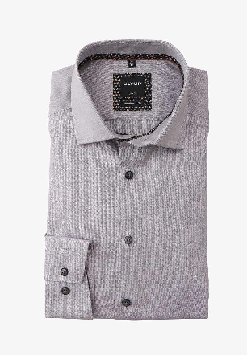 OLYMP - MODERN FIT LANGARM HAIFISCHKRAGEN  - Formal shirt - grau
