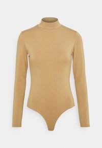 NU-IN - BAMBOO HIGH NECK BODYSUIT - Long sleeved top - camel - 0