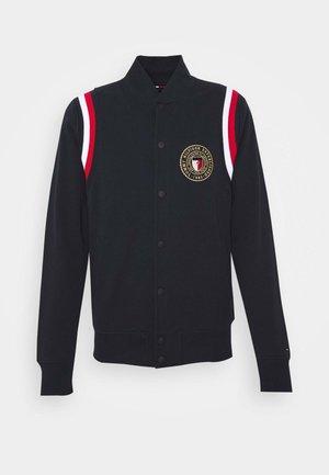 VARSITY BASEBALL JACKET - veste en sweat zippée - blue