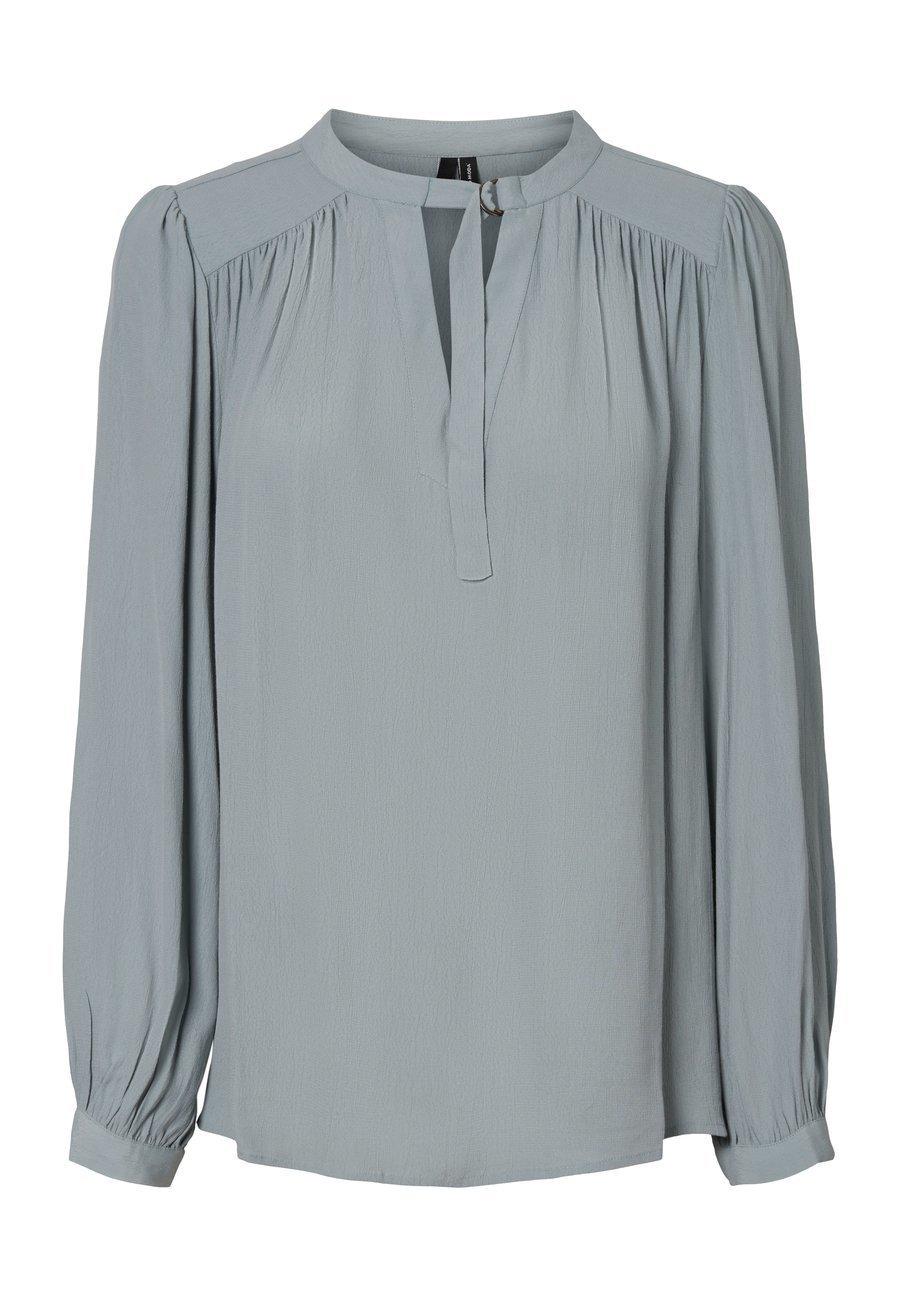 Black Bluse med bindebånd  Violeta by MANGO  Bluser