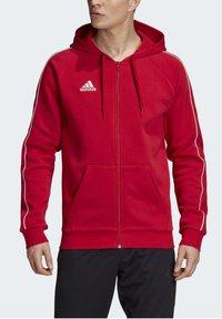adidas Performance - CORE 19 HOODIE - Huvtröja med dragkedja - red - 4