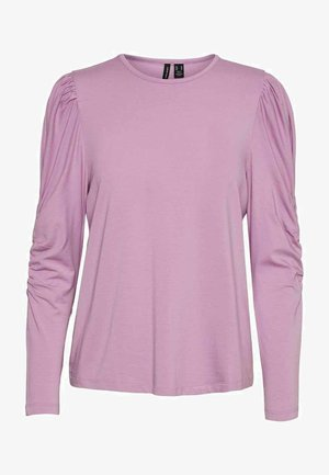 Long sleeved top - violet tulle