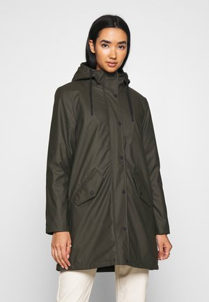 ONLSALLY RAINCOAT - Parkatakki - rosin/black