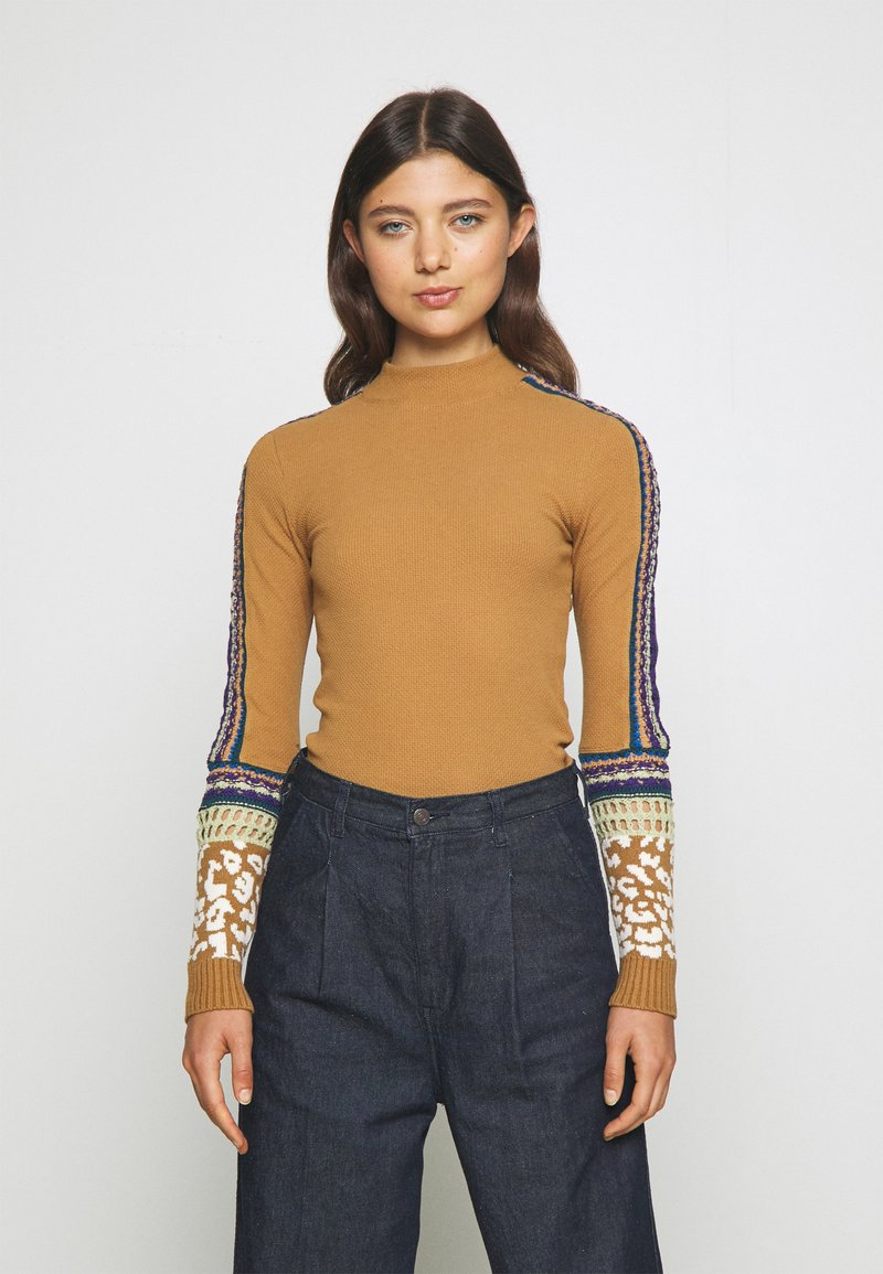 Free People - SWITCH IT UP THERMAL - Jumper - sienna