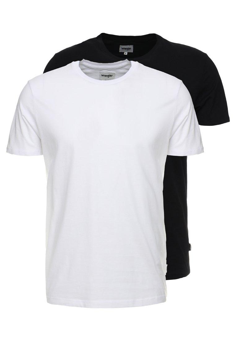 Wrangler - TEE 2 PACK - T-shirt basic - black