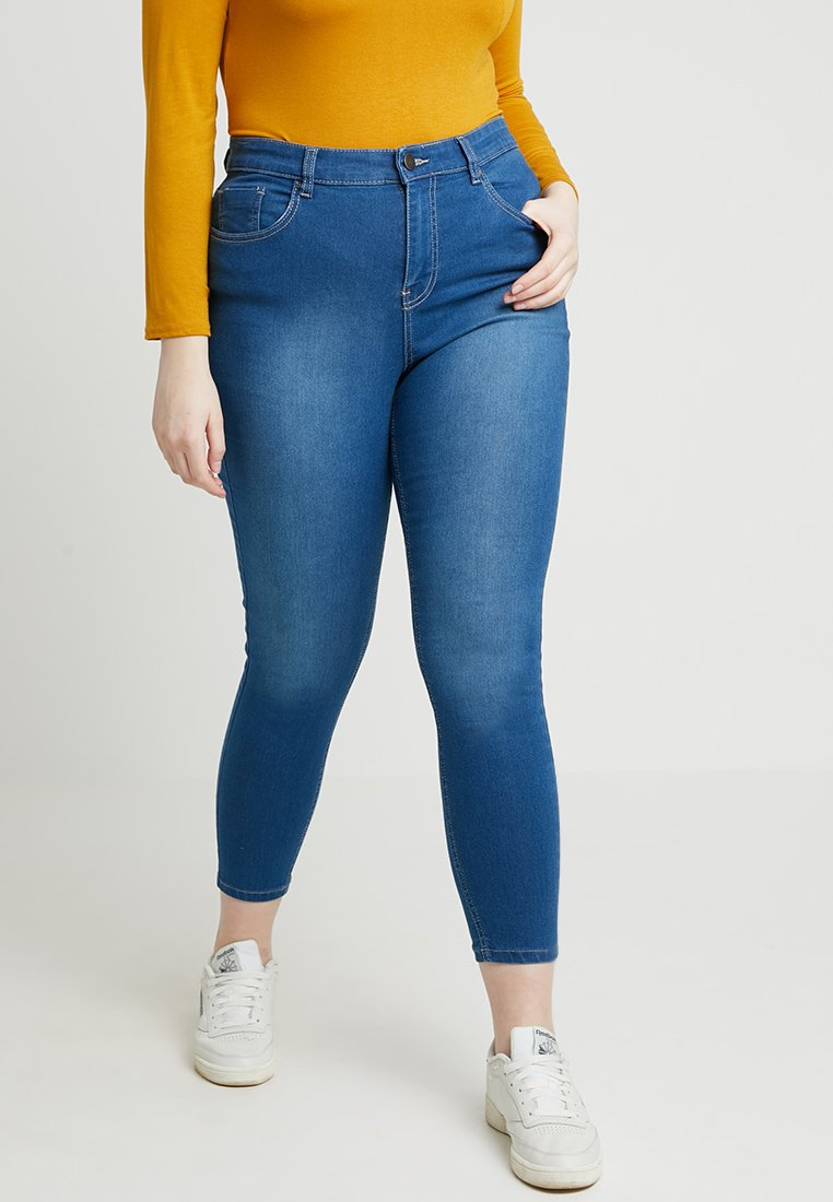 CAPSULE by Simply Be - LUCY HIGH WAIST SUPER SOFT - Jeans Skinny Fit - blue
