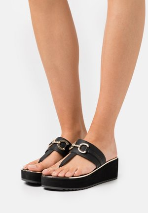GWALIDIA - T-bar sandals - black