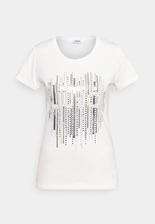 MODA - T-shirt imprimé - bianco