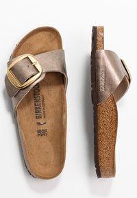 Birkenstock - MADRID BIG BUCKLE - Slippers - graceful taupe - 3