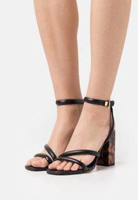 MICHAEL Michael Kors - HAZEL ANKLE STRAP - Sandals - black - 0