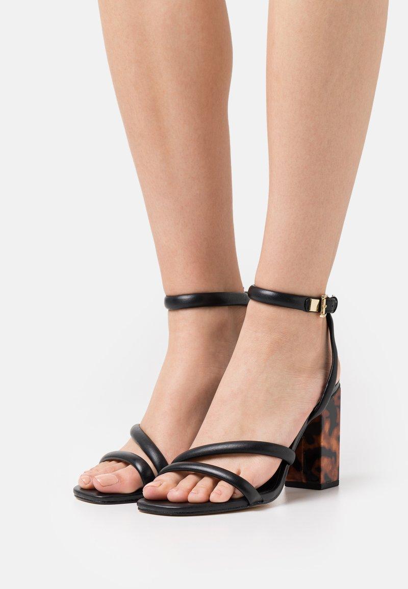 MICHAEL Michael Kors - HAZEL ANKLE STRAP - Sandals - black
