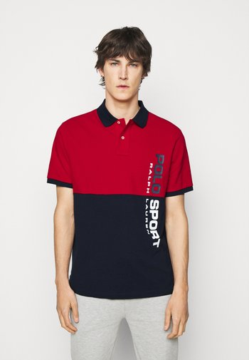 BASIC - Polo - red/multi