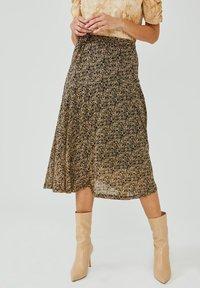 Aaiko - FRAIDA - A-line skirt - black dessin - 0