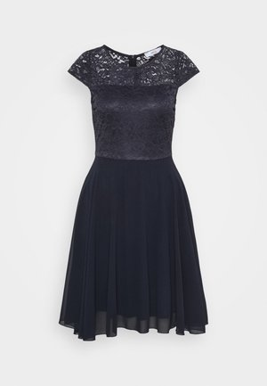PEYTON SKATER DRESS - Cocktail dress / Party dress - navy