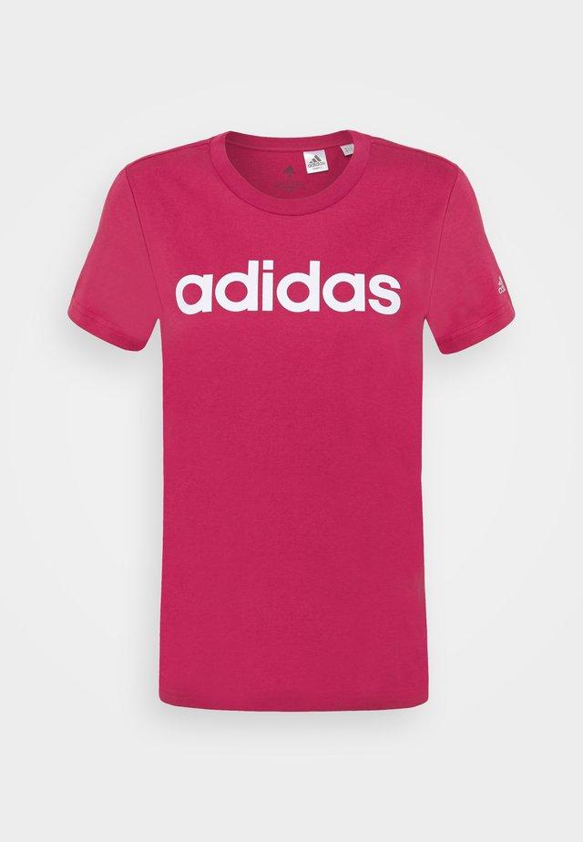 Print T-shirt - wild pink/white
