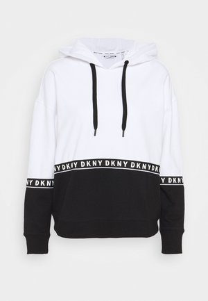 BOXY HOODED - Hoodie - white