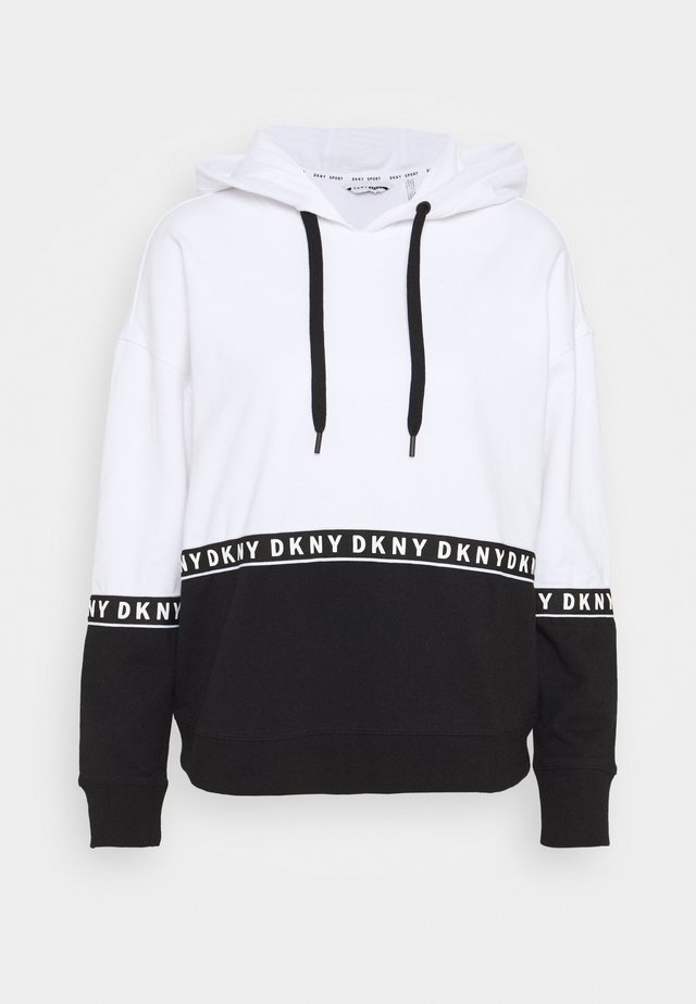 BOXY HOODED - Kapuzenpullover - white