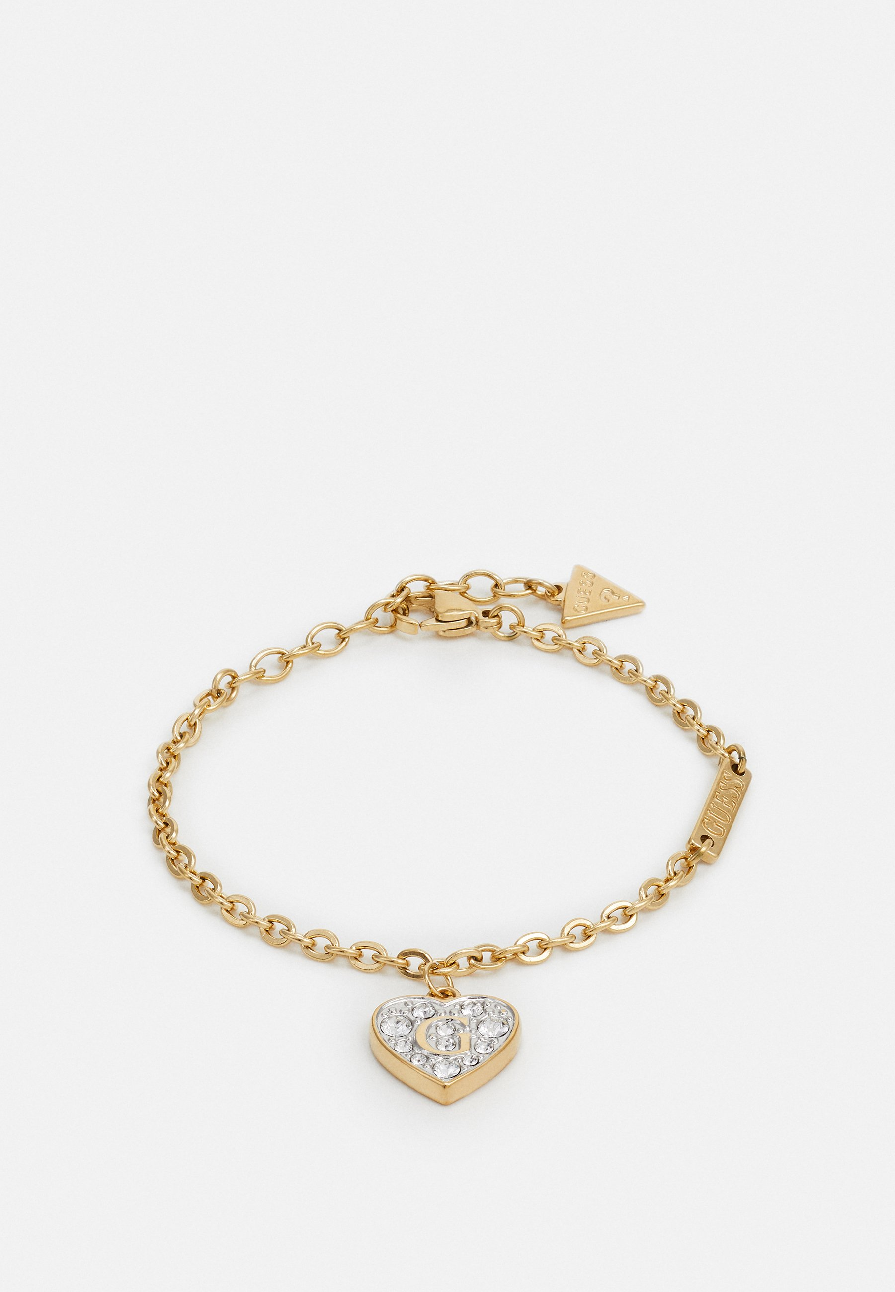 Guess CHAIN THREE CHARMS Armband gold coloured Zalando.nl