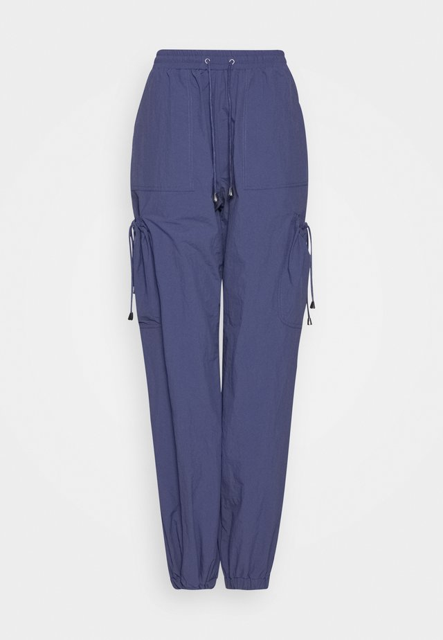 POCKET DETAIL TROUSERS - Trousers - blue