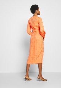 Closet - PLEATED WRAP DRESS - Day dress - orange - 3