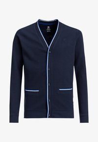 WE Fashion - MET RIBSTRUCTUUR - Strickjacke - navy blue - 2