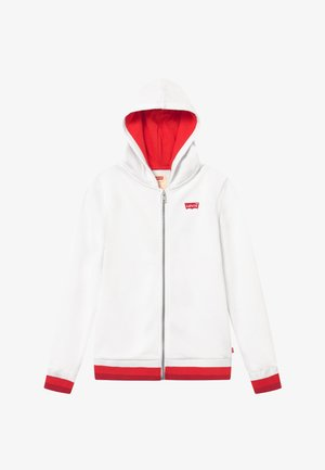 FULL ZIP HIGH RISE HOODIE - Felpa aperta - white