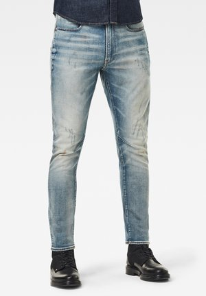 D-STAQ 3D SLIM - Slim fit jeans - antic faded lapo blue destroyed