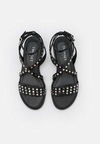 TWINSET - BASSO BORCHIATO - Sandals - nero - 5