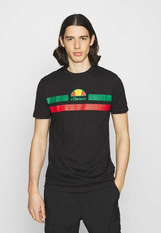 GLISENTA TEE - Print T-shirt - black