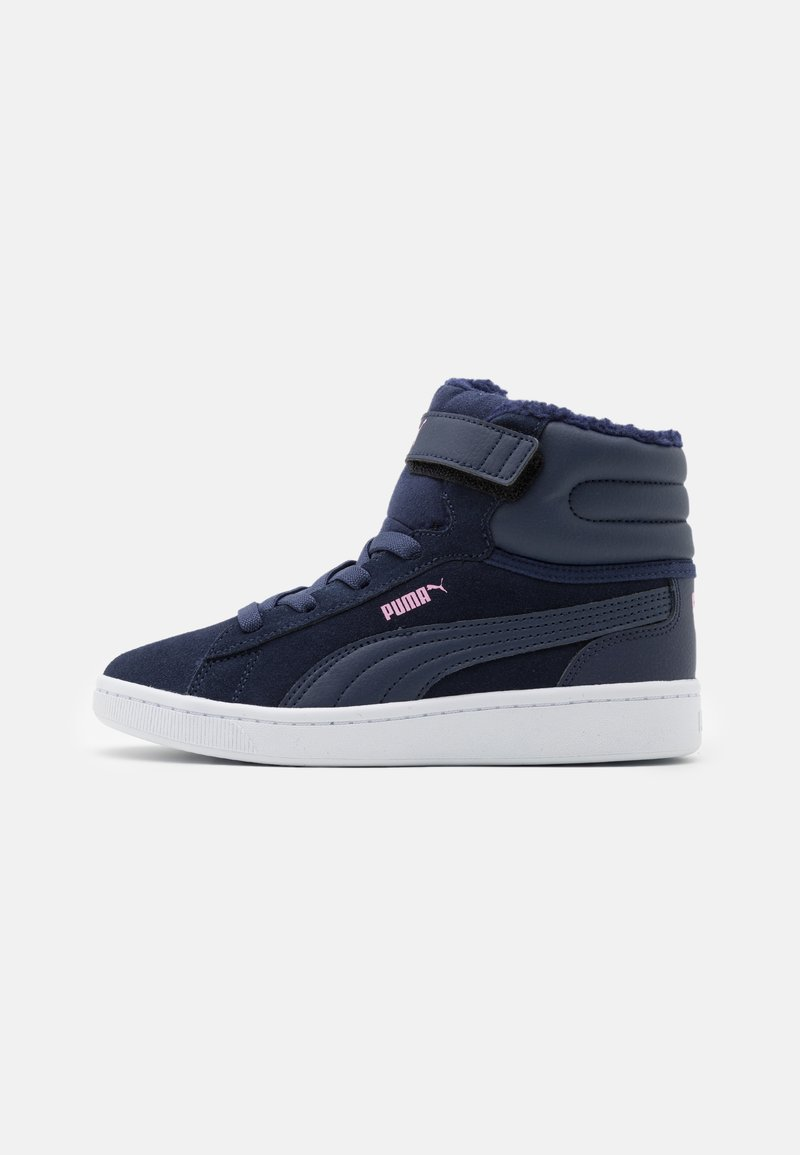 Puma - VIKKY MID - High-top trainers - peacoat/pale pink/white