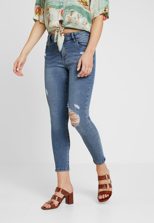 MID RISE GRAZER  - Jeans Skinny Fit - heritage blue rips
