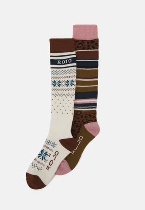 SOCK WOMENS 2 PACK - Knee high socks - snow white/mix