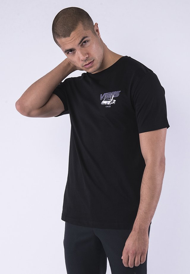 Print T-shirt - black/mc