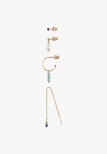 SET MIT KUNSTSTOFF - Earrings - goldfarben