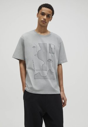 T-shirt med print - grey