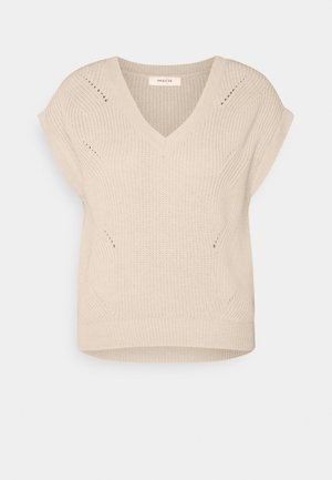 ENITA VEST - T-shirt con stampa - oatmeal