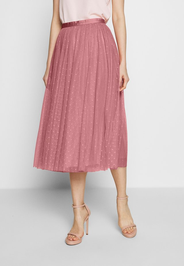 KISSES MIDAXI SKIRT EXCLUSIVE - A-Linien-Rock - pink