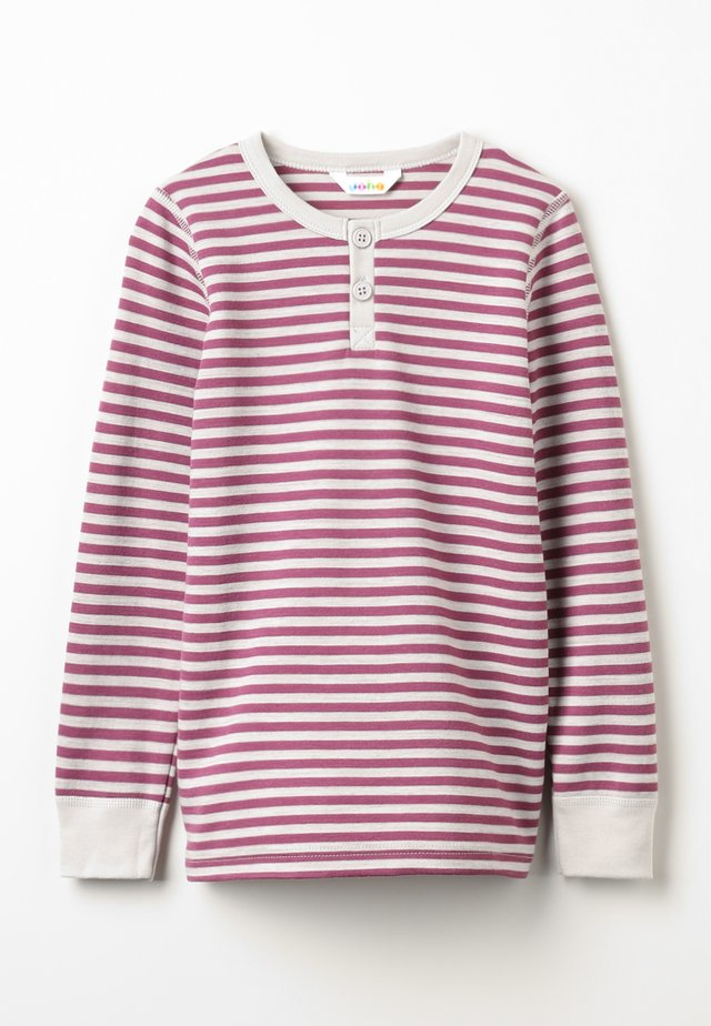 LONG SLEEVES - Nachtwäsche Shirt - grey/ dark red
