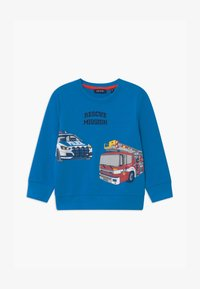 Blue Seven - SMALL BOYS FIRETRUCK - Sweatshirt - cyan - 0