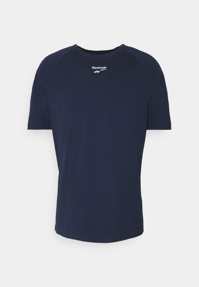 TWIN VECTOR TEE - Print T-shirt - dark blue